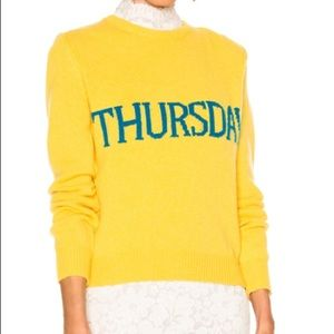 Alberta Ferretti yellow Thursday sweater